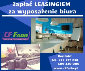 Zapłać leasingiem za wyposażenie biura we Wrocławiu